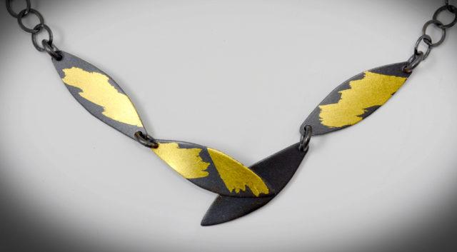 K 479 X - Short Bamboo Necklace - 3.25 x .30 x 17L -$240 - Copy