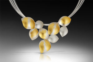 K 481 Lotus Necklace - 2.5h x 3.5w x 18L -$840