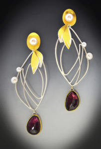 Monarch Garnet Earrings