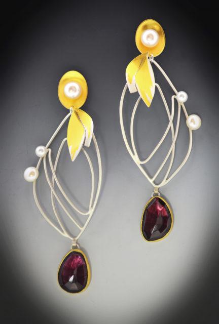 Monarch Garnet Earrings