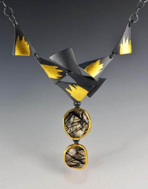 Tourmaline Starburst  Necklace