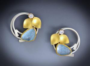 9-17 Aqua Lilac Earrings