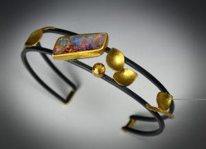 9-17 Fire Opal Cuff