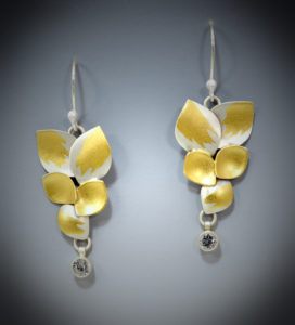 9-17 Saphire Leaf Earrings